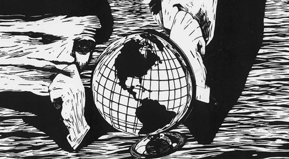 Bild, illustration svart-vit