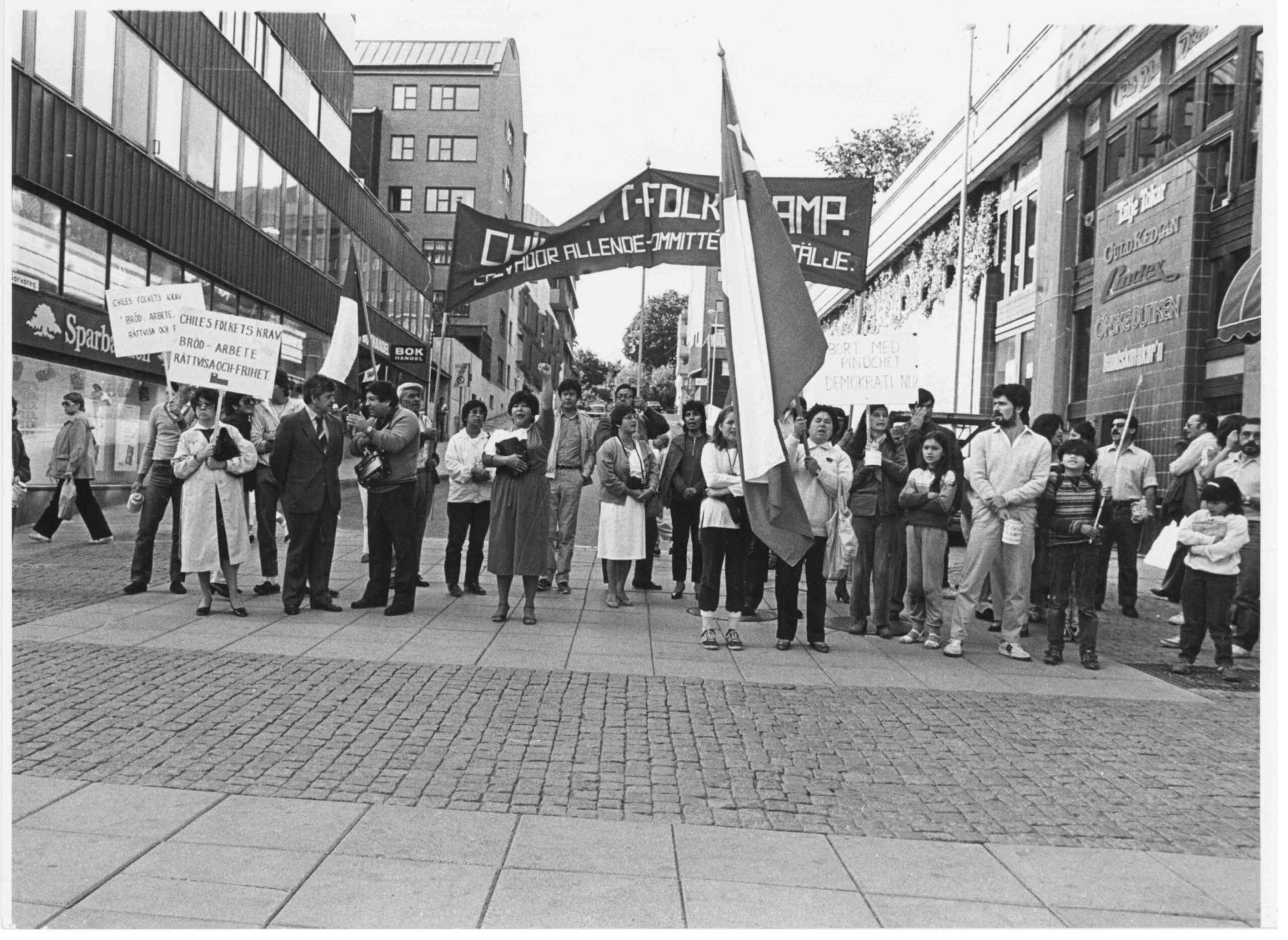 Demonstration i Södertälje