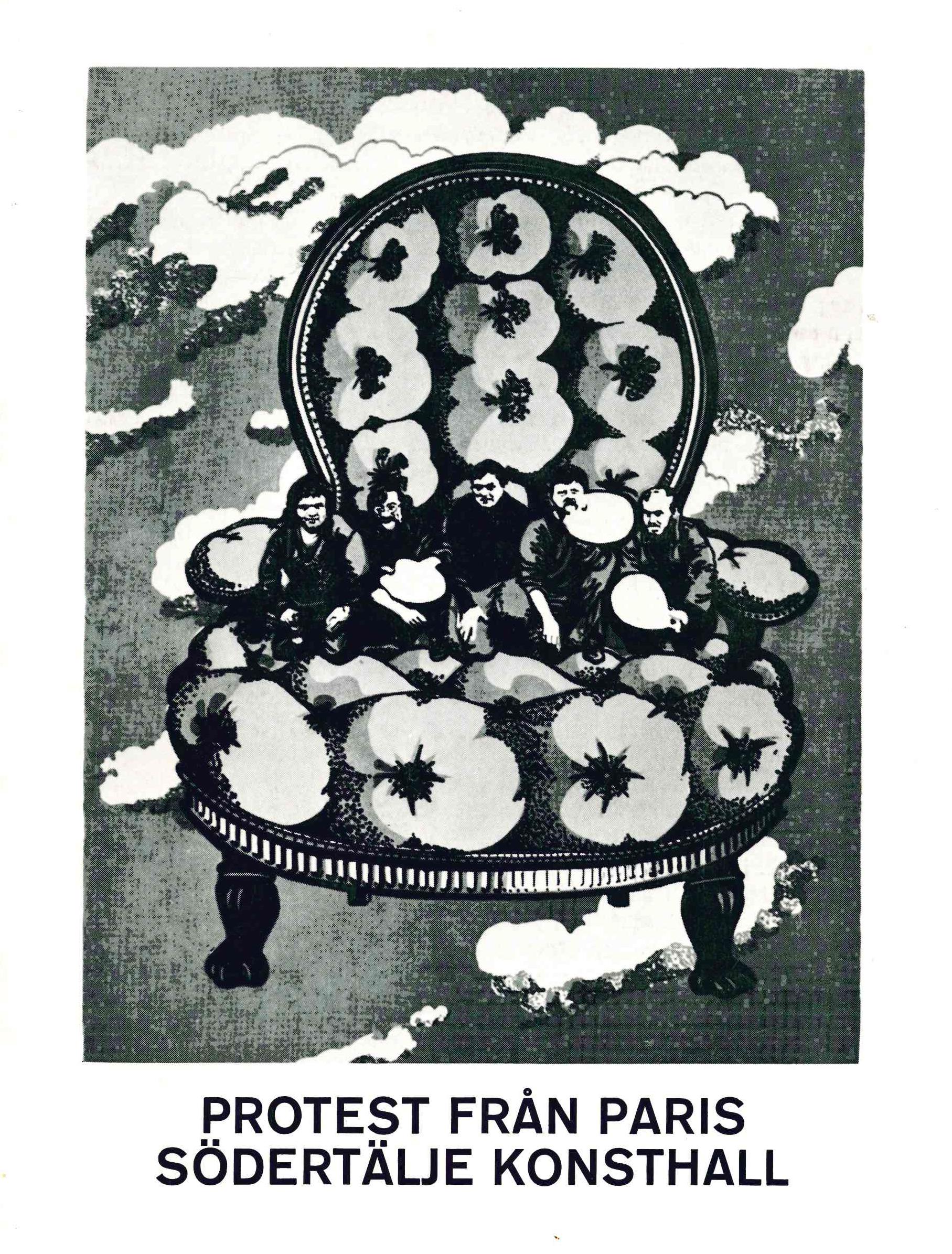 Omslag från katalog i svart-vitt.