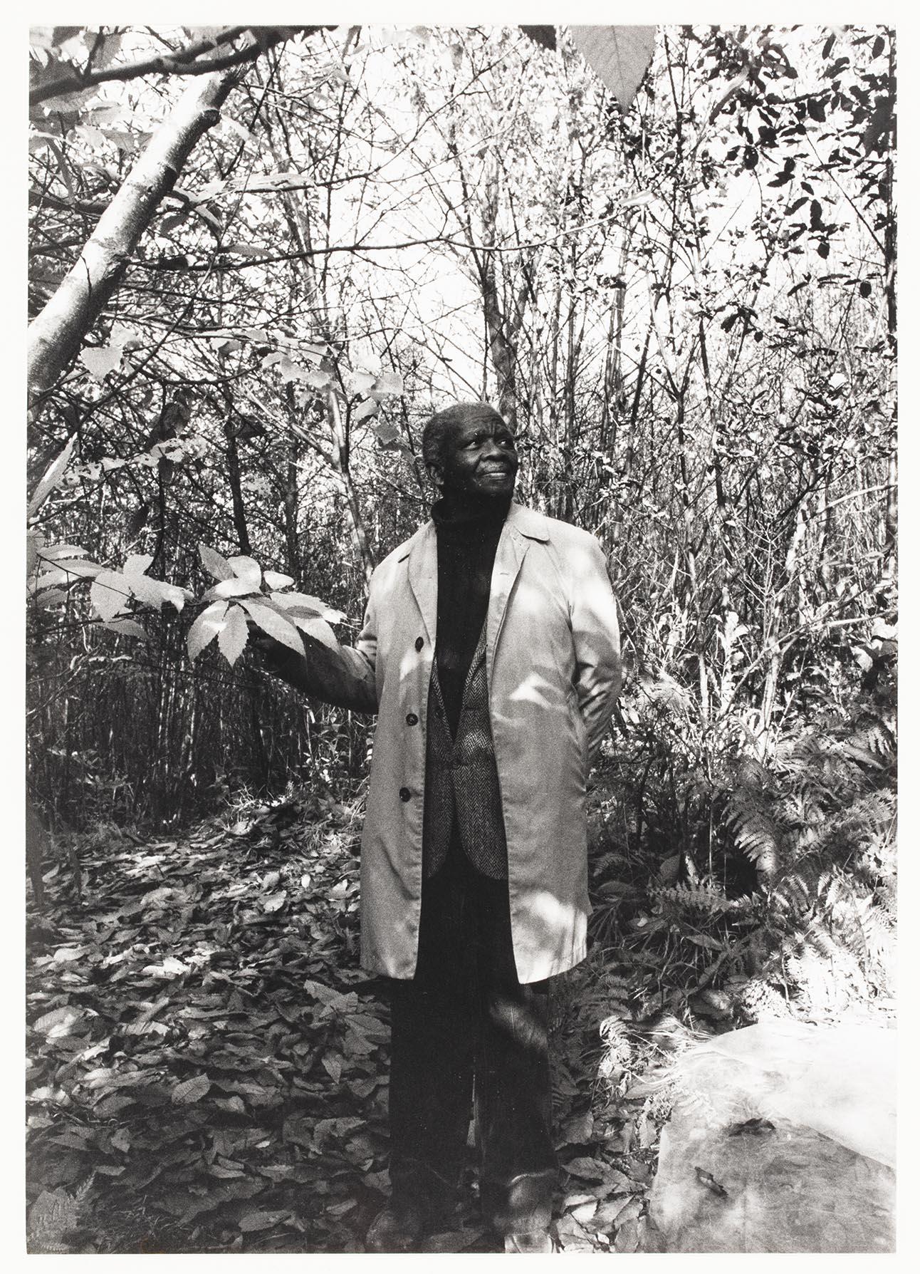 Ernest Mancoba i skogen
