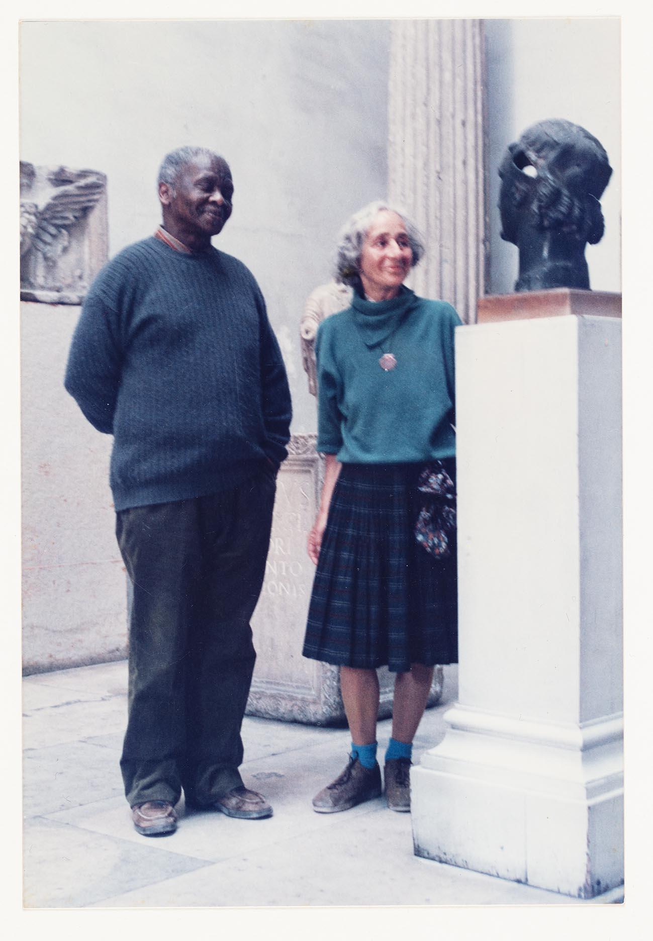 Porträtt av Ernest Mancoba och Sonja Ferlov