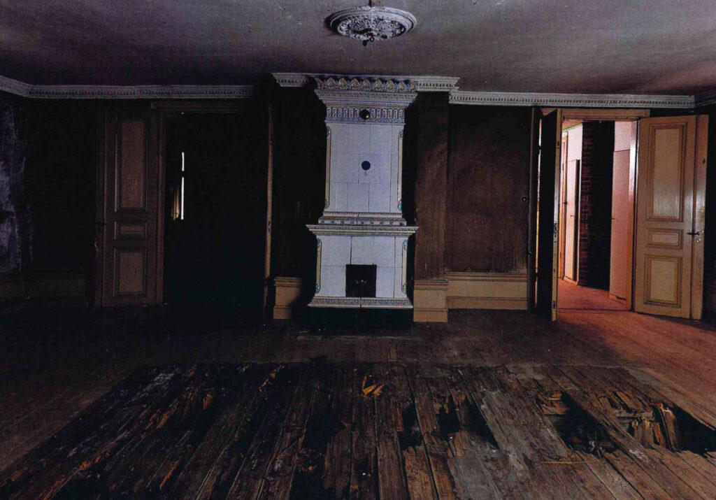 Bild på ett ödehus