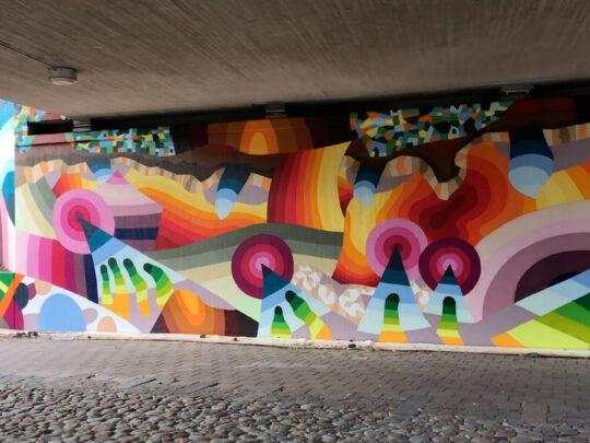 Bild på väggmålning
