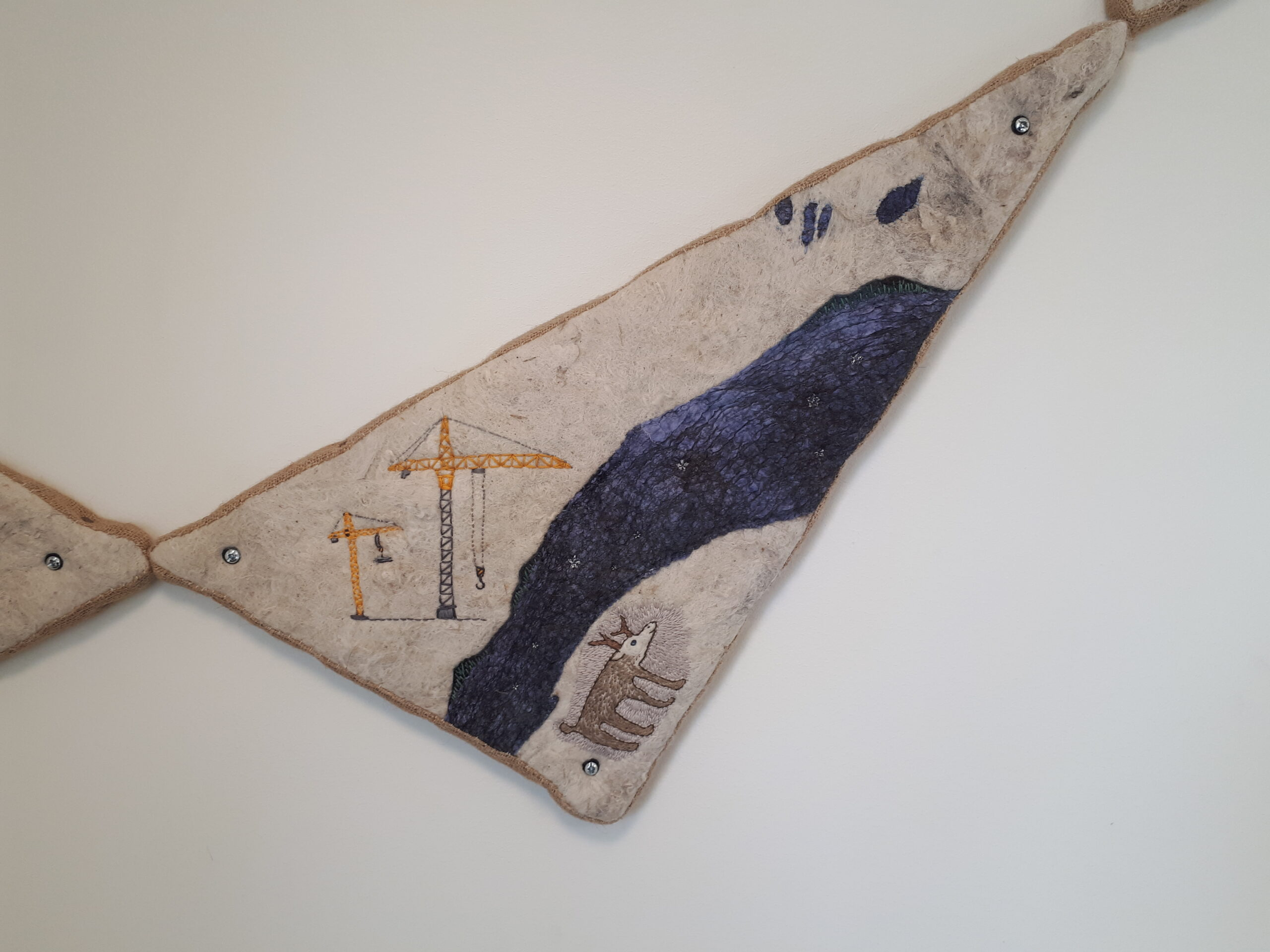 Detalj av Helena Hildur W´s verk